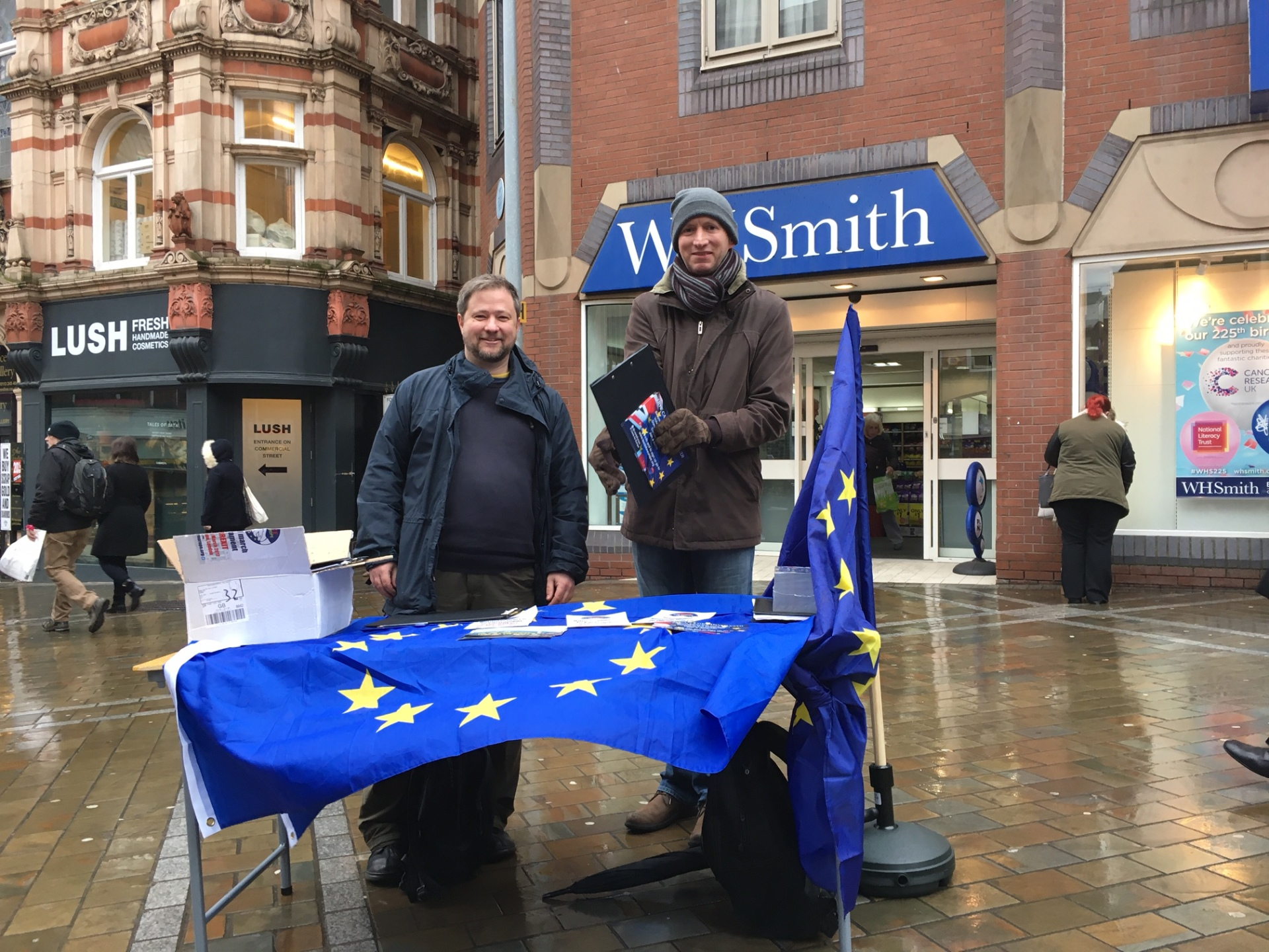 Campaigning against Brexit in Leeds